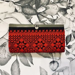 Other - Red&Black Tribal Print Wallet